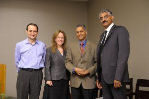 Dutt receiving award