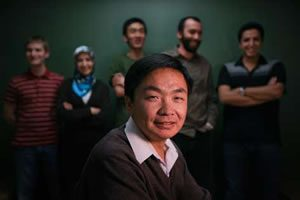 Professor Chen Li with students