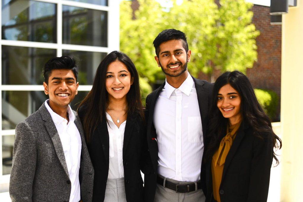 Enrole co-founders: Neel Griddalur, Aarti Vellimedu, Adarsh Pachori and Aishwarva Suresh.