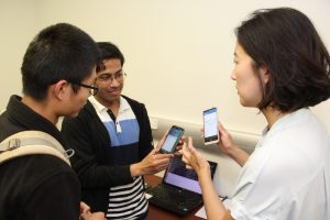 Student demo at the 2016 Computer Science Research Showcase